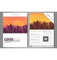 Brochure flyer design template Leaflet cover vector image vector image