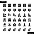 browser and interface solid icons set vector image vector image