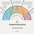 Business infographic for success project vector image vector image