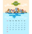 Calendar of february vector image
