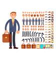 Cartoon businessman customizable character