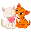Cartoon cat licking vector image vector image