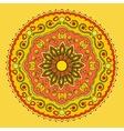 Colorful mandala hand drawn vector image vector image
