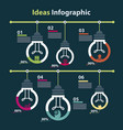 conceptual infographic of ideas and time vector image vector image