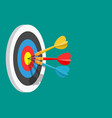 darts target success business concept vector image vector image