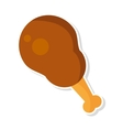delicious chicken thigh isolated icon vector image vector image