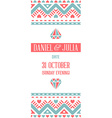 Design Awesome Wedding Invitation Template with vector image vector image