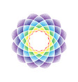dots flower mandala rainbow vector image