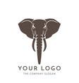 elephant sign logo emblem -01 vector image vector image