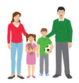 family set cartoon vector image