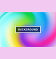 fluid colorful shapes composition trendy mesh vector image vector image