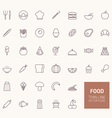 Food Outline Icons for web and mobile apps vector image vector image