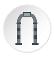 Gray arch icon flat style