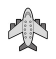 grey airplane cartoon vector image vector image