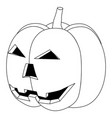 halloween pumpkin black and white flat vector image vector image