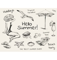 Hand Drawn Sketch Summer Set vector image
