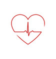 heart beat icon isolated vector image vector image