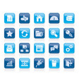 hosting server and internet icons vector image