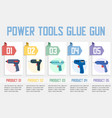 hot glue guns models store flat web banner vector image