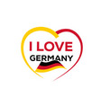 i love germany vector image vector image
