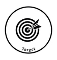 Icon of Target with dart vector image vector image