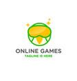 idol bird online games logo vector image vector image