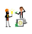 indian businessman holding idea light bulb vector image vector image