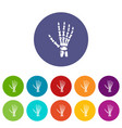 inflammation of hand icon simple style vector image vector image