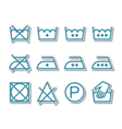 Instruction laundry dry cleaning care icons vector image vector image