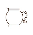 isolated abstract coffeepot icon vector image vector image