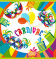 masquerade party mask set happy carnival festive vector image