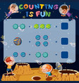 math counting fun game vector image