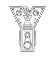 mechanical letter y engraving vector image