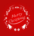 merry christmas text in english design card vector image vector image