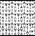monochrome arrow signs seamless pattern vector image