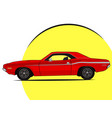 muscle car bright icon vector image