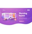 nursing home landing page concept vector image vector image