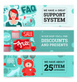 online store banners set vector image vector image