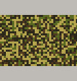 pixelated military camouflage pattern texture vector image vector image
