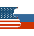 relationships between usa and russia vector image vector image