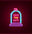 save date neon label vector image vector image