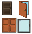 set of door vector image