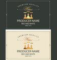 set two wine labels with golden bottles vector image vector image