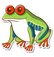 sticker design with exotic frog isolated vector image vector image