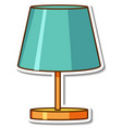 sticker design with green lamp for living room vector image
