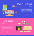 stylish furniture home decor vector image