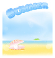 Summer pink pearl vector | Price: 1 Credit (USD $1)