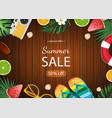 summer sale banner summer vector image vector image