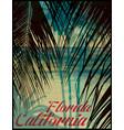 summer theme california california vintage design vector image