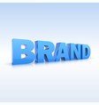 The word brand volumetric three-dimensional vector image